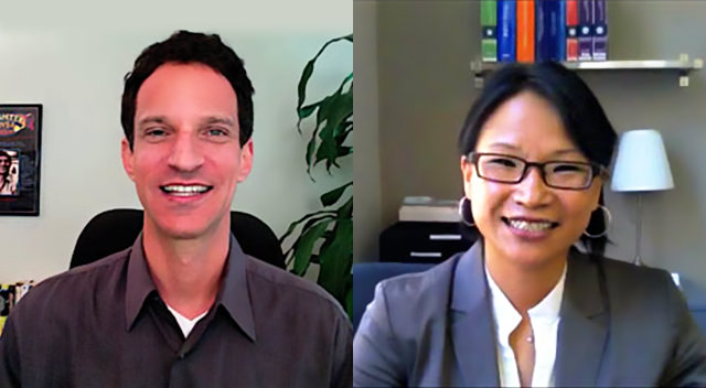 Immigration Attorney Christina H. Lee with JDCOT Founder Marc Luber