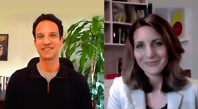 Strategic Communications Director Jen Gould with JDCOT host Marc Luber