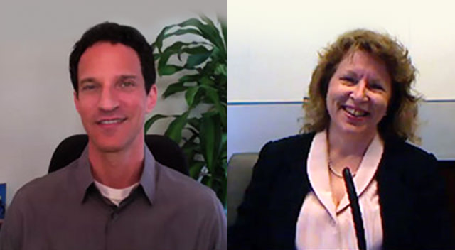 Real estate lawyer Laura McClellan with JDCOT host Marc Luber